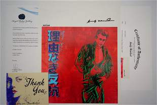 Andy Warhol Signed 1986 James Dean Print #34/200