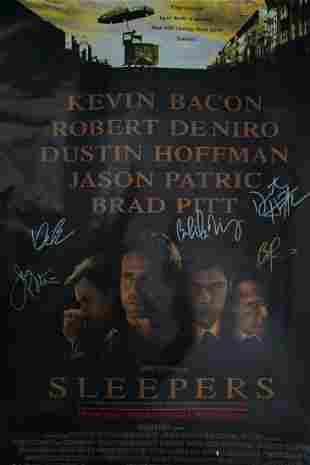 Sleepers (1996) Cast Signed Poster W/COA