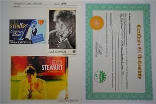 Rod Stewart Autographed Photo Card W/COA