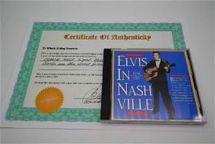 Elvis Presley CD Signed by Charlie Hodge W/COA