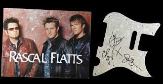 Rascal Flatts Signed Pickguard W/Promo Photo Folder