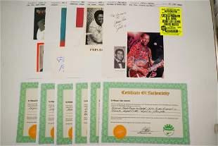 Lot of (6) 1950s Music Artists Autographs W/COAs