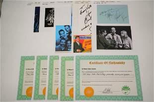 Lot of (5) 1960s Music Artist Autographs W/COAs