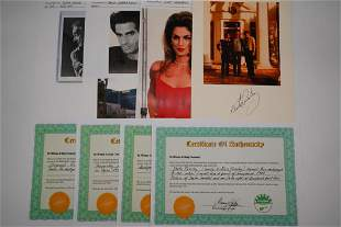 Lot of (4) Autographs From Various Notable Figures