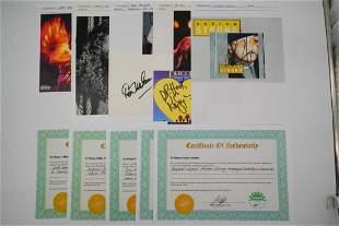 Lot of (5) Rock & Pop Musicians Autographs W/COAs