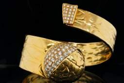 Gucci 6.00ctw VS1-VS2/F-G Diamond 18K Bracelet
