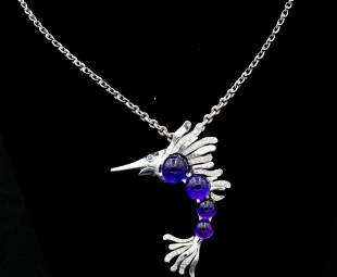 Chanel 1.25ctw Diamond, Amethyst & 18K Necklace