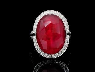 Oro Trend 3.30ctw Diamond, Carnelian & 18K Ring