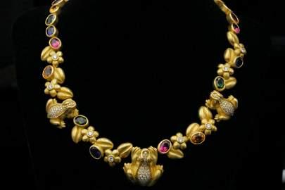 Kieselstein-Cord 25.75ctw Gemstone & Diamond Necklace