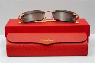 Cartier Panthere Vintage Gold Frame Sunglasses