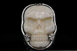 King Baby Sterling Silver Classic Skull Ring