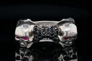 Stephen Webster Black Sapphire & Sterling Silver Ring