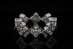 King Baby Solid Sterling Silver MB Cross Ring