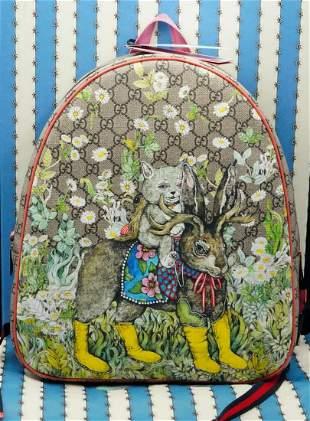 Gucci x Higuchi Yuko Animal Print GG Supreme Backpack