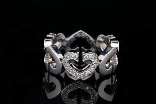 Cartier C Heart of Cartier Diamond 18K White Gold Ring