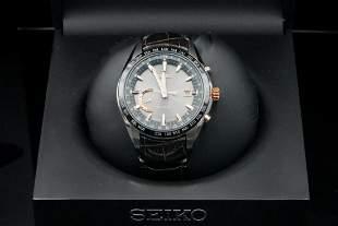 Seiko Astron GPS Solar World Time 46mm Titanium Watch