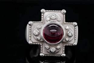 Kieselstein-Cord 1.00ct Pink Tourmaline & 18K Ring