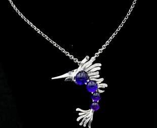 Chanel 1.25ctw Diamond, Amethyst & 18K Necklace
