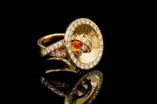 Van Cleef & Arpels 1.35ctw Diamond & 18K Ring