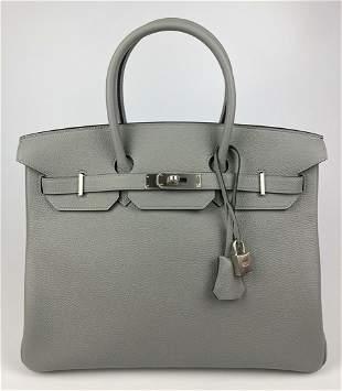 Hermes Special Order 35cm Gris Mouette Togo Birkin