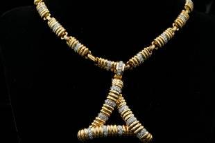 Gucci 1960s 3.00ctw VS1-VS2/G-H Diamond 18K Necklace