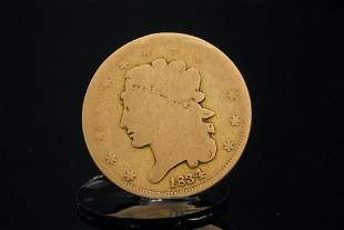 1834 Classic Head Gold $5 Half Eagle