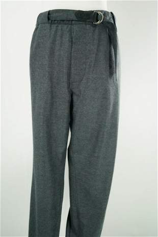 Louis Vuitton Men's Gray Wool Trousers