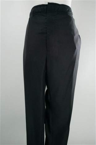 Louis Vuitton Men's Wool Trousers, Black