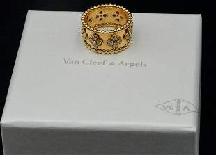 Van Cleef & Arpels Perlee Clovers Diamond Ring