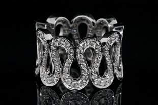 Boucheron 2.25ctw VS1-VS2/F-G Diamond 18K Ring