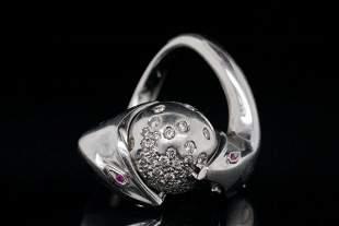 Boucheron 0.50ctw Diamond and 18K Serpent Ring