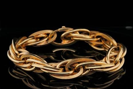 "Solid 18K Yellow Gold 8"" Bracelet"