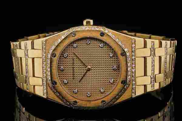 Audemars Piguet Royal Oak 30mm Diamond & 18K Watch