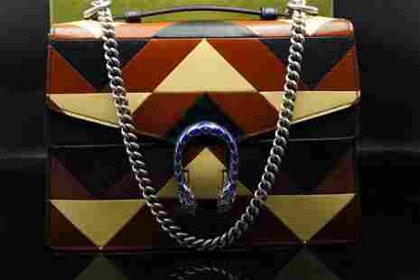 Gucci Rare Leather Patchwork Medium Dionysus Bag