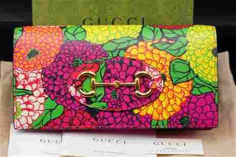 Gucci x Ken Scott 1955 Horsebit Pompon Chain Wallet