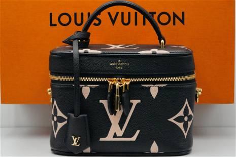 Louis Vuitton Vanity PM Black/Beige Empreinte Leather