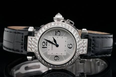 Cartier Pasha de Cartier Diamond & 18K 32mm Watch