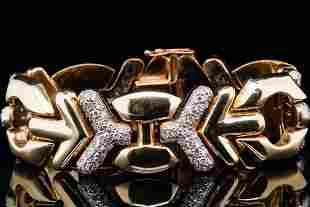 """3.00ctw SI1-SI2/G-H Diamond 14K Italian 7"""" Bracelet"""