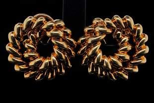 Tiffany & Co. 18K Yellow Gold Rope Twist Ear Clips