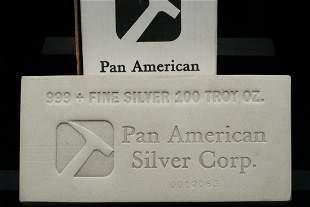 Pan American Silver 100 Troy Ounce 999+ Silver Bar