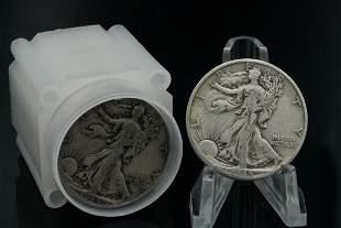 (20) 1936-1946 Walking Liberty Silver Half Dollars