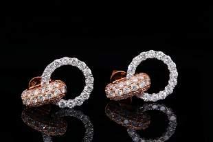 Odelia 2.00ctw VS1-VS2/G-H Diamond 18K Earrings