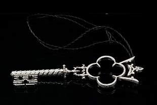 Prince Dimitri 6.75ctw Diamond Platinum Key Pendant