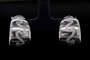Van Cleef & Arpels 0.90ctw Diamond 18K Earrings
