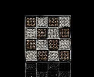 Adamas Milano 4.50ctw White & Brown Diamond 18K Ring