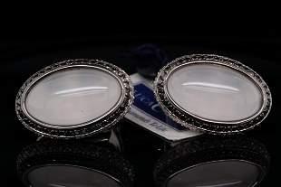 Luca Carati 4.00ctw Diamond, Quartz & 18K Earrings