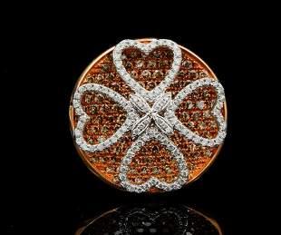 Gregg Ruth 2.45ctw Brown & White Diamond 18K Ring