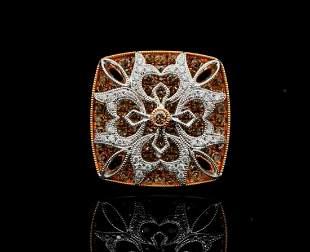 Gregg Ruth 1.92ctw Brown & White Diamond 18K Ring