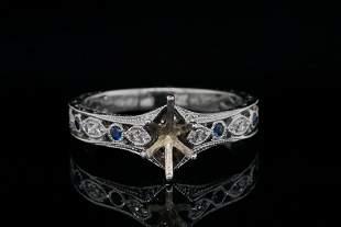 Neil Lane Diamond and Blue Sapphire 14K Semi-Mount