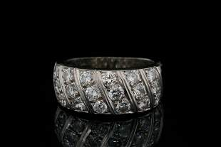 1.25ctw SI1-SI2/G-H Diamond and 14K White Gold Ring